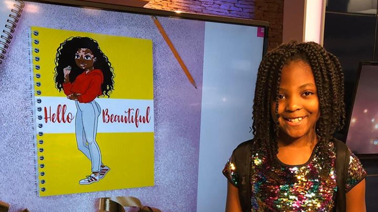 """Garota americana cria material escolar para meninas negras, cadeirantes e com vitiligo e vira """"mini CEO"""""""