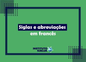 Siglas e abreviações em francês